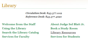 Library Main Page